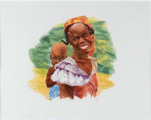 Annette Messager - Mère africaine (Musée national d'art moderne, Paris)
