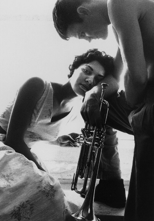 Halima and Chet Baker, Redondo Beach, 1955.