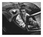 Steve dans sa Jaguar XK-SS, Paramount Studios, 1962