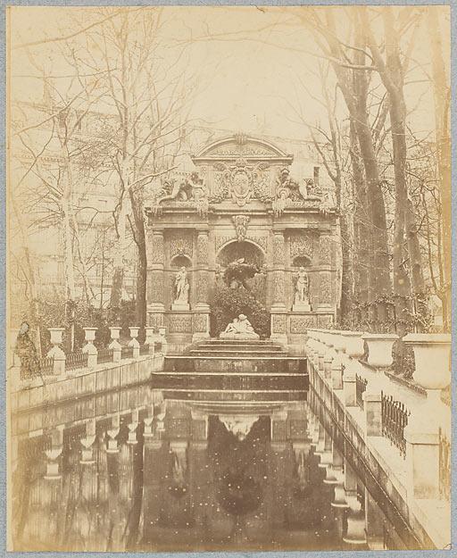Anonyme. Jardin du Luxembourg, Fontaine Médicis, 1871, papier albuminé.