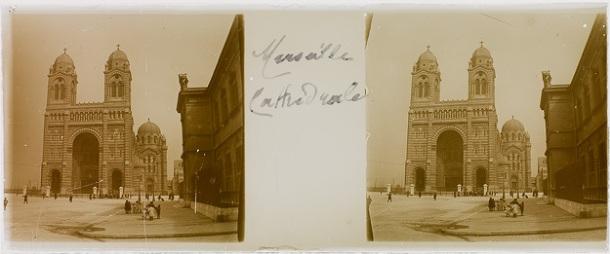 Anonyme. Marseille. Cathédrale, entre 1905 et 1915, gélatino-bromure d'argent.