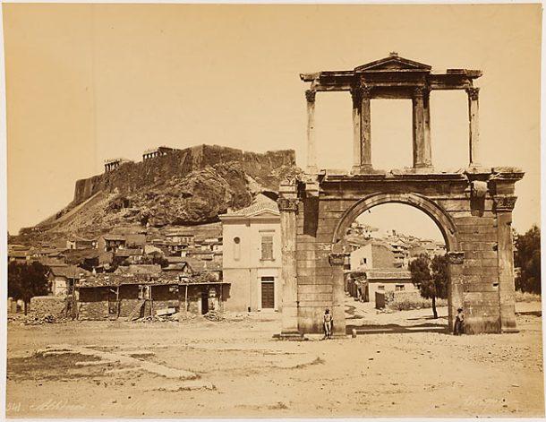 BONFILS Félix. Athènes. Arc d'Adrien, papier albuminé, 2e moitié 19e s.