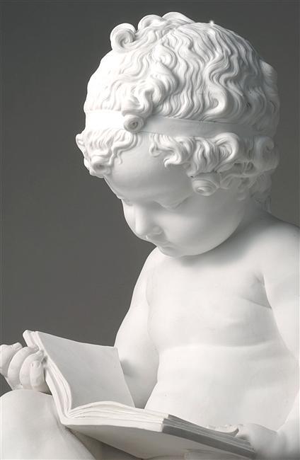 Charles-Gabriel Sauvage, Enfant lisant, 1790-1791, Biscuit