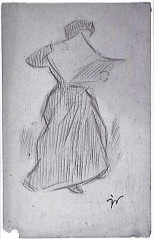 Gaston Duchamp, Femme lisant un journal, 1896-1910, crayon sur papier, Musée national d'art moderne de Paris