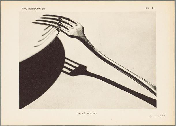 KERTESZ André. Fork, 1928, phototypie.