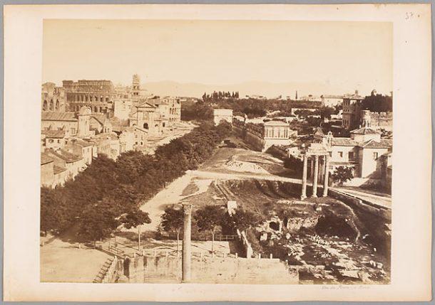 NAYA Carlo. Rome. Vue du forum, vers 1870, papier albuminé.