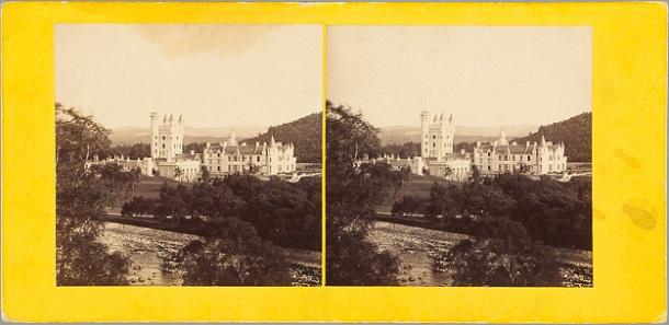 Non identifié. Ecosse, Balmoral Castle from the N[orth] W[est], vers 1865, papier albuminé.