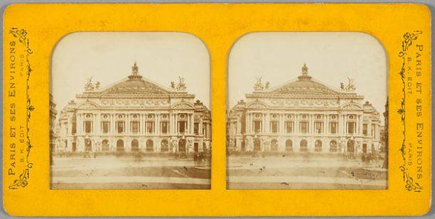 Non identifié. L'Opéra Garnier, papier albuminé, 2e moitié du 19e siècle.