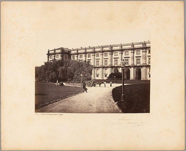 SOMMER Giorgio. Napoli, Palazo di Capodimonte, avril 1870, papier albuminé.