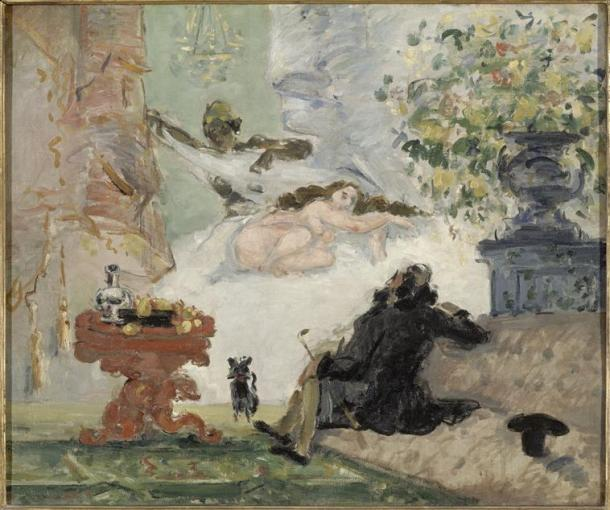 Cézanne, Une moderne Olympa, vers 1873-1874, musée d'Orsay, Paris