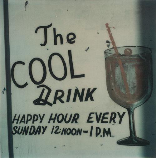 Détail d'une publicité peinte pour The Marquezette Lounge, vers 1973-1974, MET, NY 2