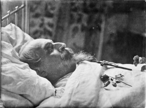 Downey, Napoléon III sur son lit de mort, 1873, château de Compiègne