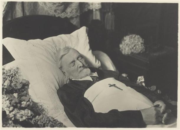 Eugène Pirou, Gustave Eiffel sur son lit de mort, 1923