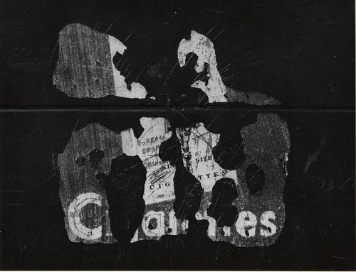 Fragments d'une pub, Vers 1960, Aaron Siskind, MET, NY