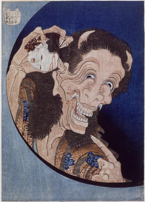 Hokusai, Démon riant, 1831