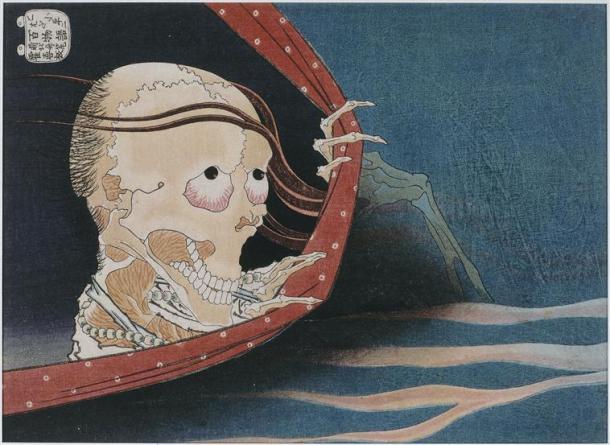 Hokusai, Le fantôme de Kohada Koheiji, 18e siècle
