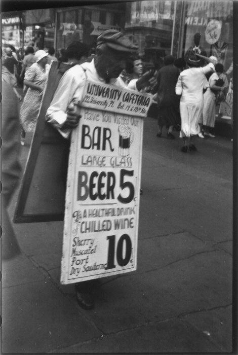 Homme-sandwich, 14e rue NY, 1933-1934, Walker Evans, MET, NY