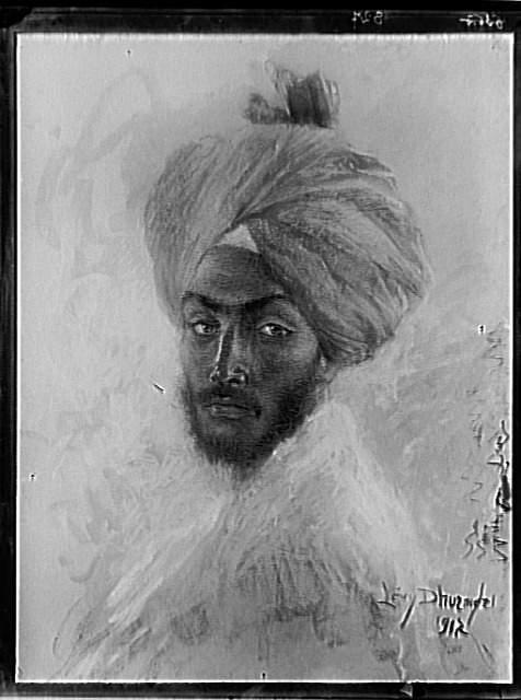 Levy-Dhurmer Lucien, Tête d'homme hindou, 1917, négatif verre