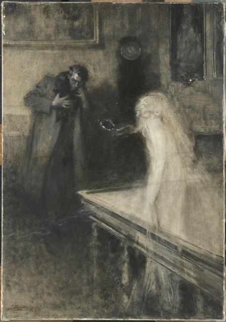 Macchiati Sérafino (1860-1916), Le Visionnaire (ou spirit), 1904, Musée d'Orsay, Paris