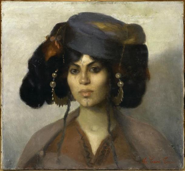 Marie Caire dite Madame Jean Tonoir, Tête de femme Biskra, 19ième siècle, musée du quai Branly