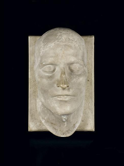 Masque mortuaire de Napoléon Ier, moulage en plâtre, 1821, Musée de l'Armée, Paris