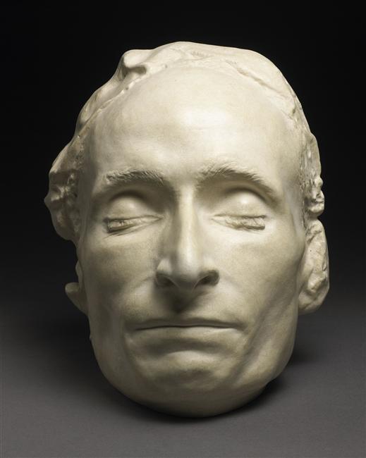 Masque mortuaire de Pascal, sculpture, 17e siècle, Musée de Port-Royal des Champs