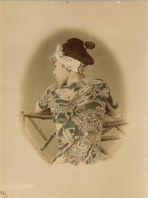 Palefrenier tatoué, vers 1867, musée Guimet