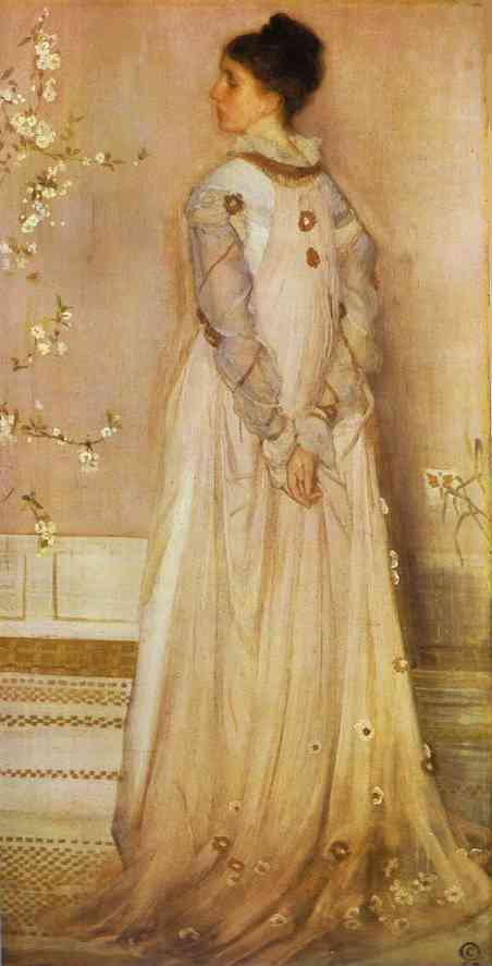 Symphony in Flesh Colour and Pink : Portrait of Mrs Frances Leyland, Whistler, Frick collection