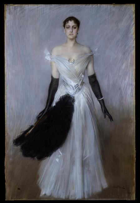 La  FEMME  dans  l' ART - Page 3 Giovanni-boldini-portrait-de-femme-1889-milan-galleria-darte-moderna