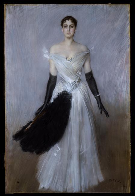Giovanni Boldini_ Portrait de femme_1889_ Milan_ Galleria d'Arte Moderna