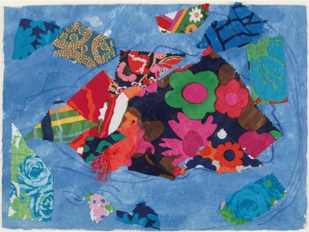 Sarrebourg, Chapelle des Cordeliers, la Paix ou l'Arbre de vie (vitraux) par Marc Chagall, 1974, Nice, musée Chagall
