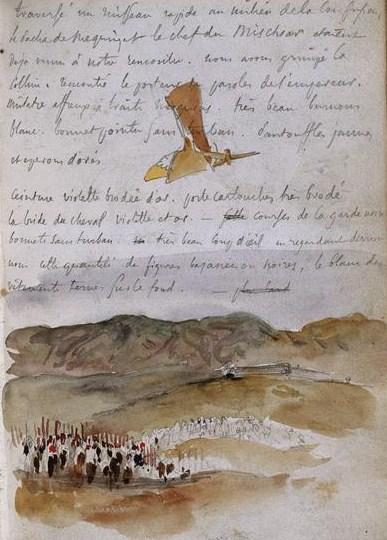 Afrique_Eugène Delacroix_ 1832_ Musée du Louvre