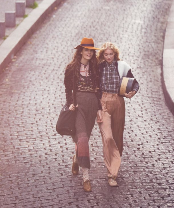 Elsa Hosk_ Zuzanna & Julia Bijoch_Free People_Through the Decades_David Bellemere