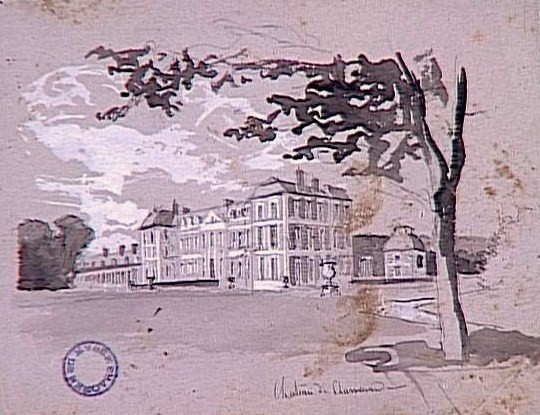 Vue du Château de Chamarande de François-Richard de Montholon, Nemours