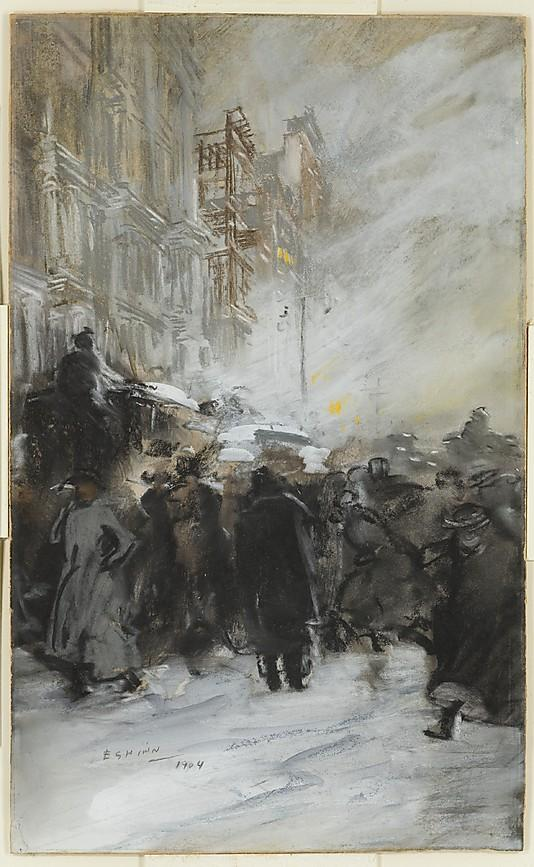Everett Shinn_ Matinée crowd_Manhattan_1904_MET_ NY