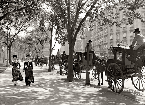 New York_1900_Cab stand_Madison Square.